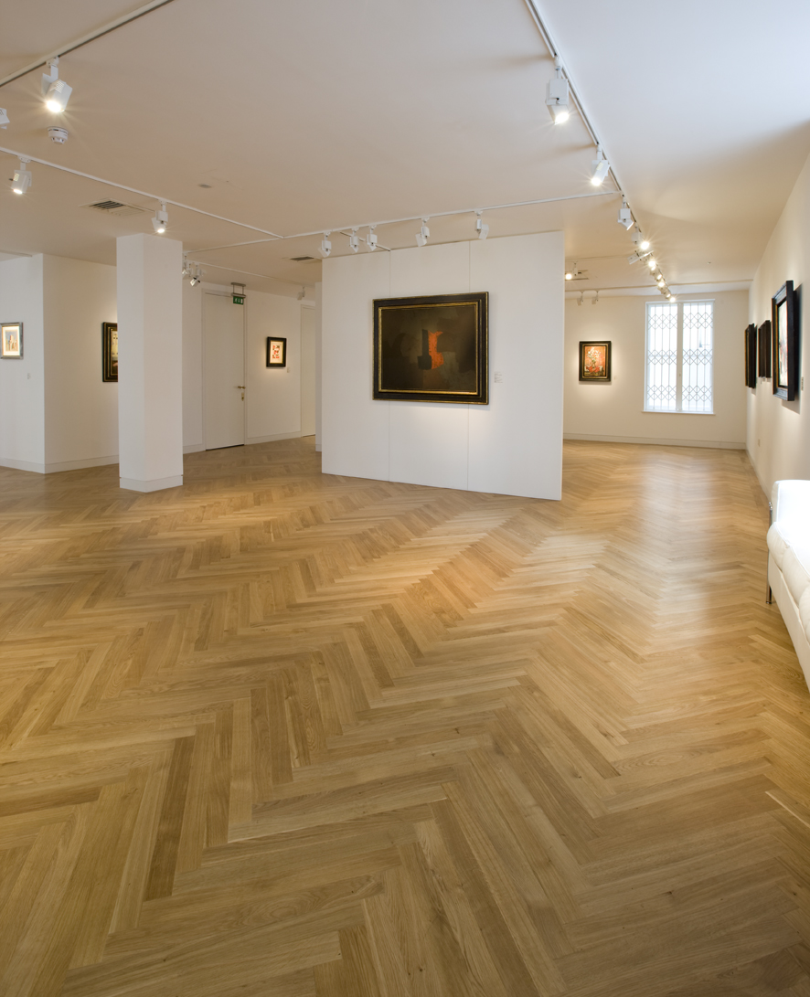 Atkis Art Gallery, Cardiff, flooring by naturalfloorsuk.com